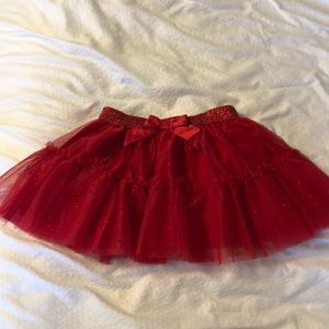Red Tulle Sparkle Skirt